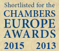 Chambers Europe Awards for Excellence 2015 и 2013